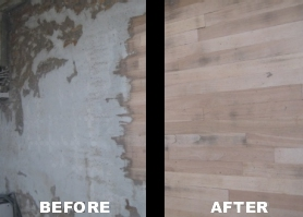 Ireland Decorators Before And After Vinyl Floor Removal